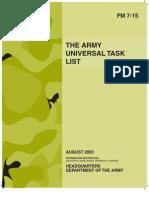 FM 7-15 the Army Universal Task List
