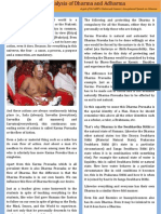 An Analysis of Dharma and Adharma a Gist of Speech by Sri Sarpv Chaturvedi Swamy