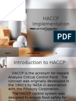 Food Service HACCP Implementation Guide