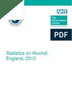 Statistics on Alcohol England 2012