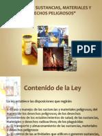 Ley Sobre Sustancias, Materiales y Desechos Peligrosos