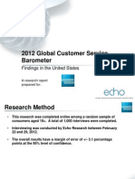 2012 Global Customer Service Barometer (American Express) - JUN12