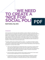 Why we need to create a 'NICE for social policy'