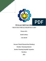 laporan praktikum metalography