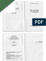 Adorno - Tri Studije o Hegelu