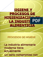 4, Procesos Higienizacion, Ingenieria