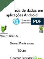 Persistência de dados em aplicações Android