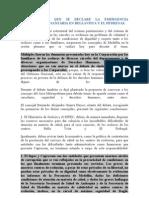 Concejo Pide Que Se Declare La Emergencia Humanitaria y Santaria en Bellavista y El Pedregal
