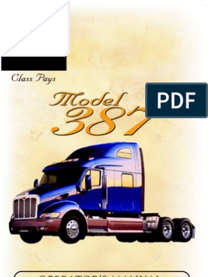 Peterbilt Model 387 Operators Manual | Headlamp | Air Conditioning