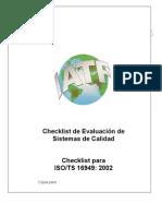 Checklist Auditoria Isots 16949-2002