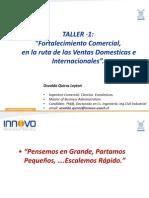 Taller Fortalecimiento Comercial Ventas Locales e Internacionales