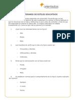 Cuestionario Estilos Educativos(Padres)