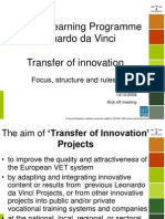 Transfer of innovation Overview Presentation SME 2.0 Kick Off Meeting