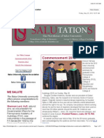 "Salus University ""Salutations"" Newsletter"