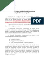 Fiche relative aux autorisations d'importation du plomb et ses composés
