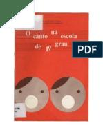 Livro - O canto na escola de primeiro grau, Leda Mársico