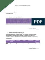 Rúbrica de evaluación taller psu