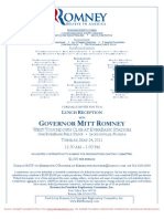 Lunch Reception for Romney for President