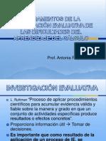 3. Fundamentos Investigación Evaluativa de las dificultades del aprendizaje