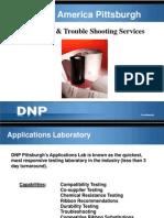 DNP Laboratory Troble Shooting Services 2012