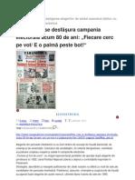 Cum Se Desfasura Campania Electorala Acum 80 de Ani