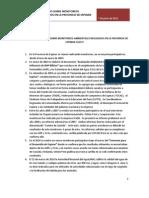 Resumen Informativo Sobre Monitoreos Realizados en La Provincia de Espinar Cuzco