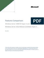 Windows Server 2012 Feature Comparison Hyper-V