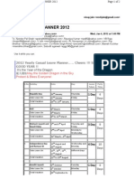 Holiday Planner 2012