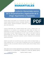 DIPUTADOS Postura de Fundación Manantiales sobre despenalización
