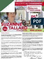Profession de foi de premier tour de Suzanne Tallard