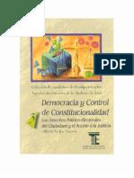 Democracia y Control de Constitucionalidad - Alberto Begne Guerra - PDF