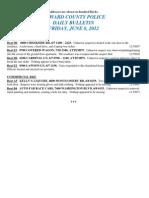 Police Daily Crime Bulletin 20120608