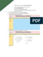 Testwalaindia Registration
