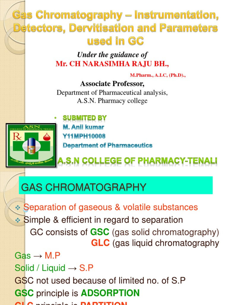 Anil Analysis Ppt | Gas Chromatography | Chromatography