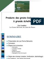 produire des grains biologiques à grande échelle