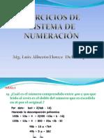 Ejercicios de Sistema de Numeración