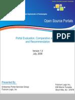 Comparitive Evaluation of Portals - Liferay, JBoss, Apache Jetspeed