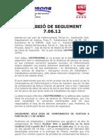 COMISSIÓ SEGUIMENT JUNY 2012