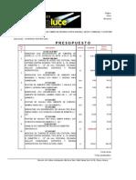 Presupuesto Montaje y Desmontaje de Sistema de Incendios, Ipsfa