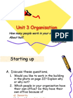 Unit 3 Organisation