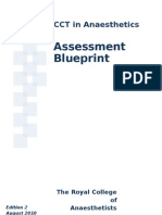 CCT in Anaesthetics - Assessment Blueprint Aug 2010 V1.3
