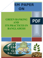 Green Banking and Its Practices in Bangladesh. (ID-07303125)