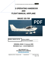 1-Magic GS-700 LSA (2 Seats) Pilot´s Operating Handbook and Flight Manual (Rev 002.  20 October 2011)