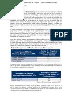 Informe de Administración de Contrato - Universidad del Desarrollo
