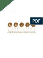 Krupa Consulting Company Profile