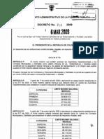Decreto 731 Salario Alcaldes 2009 1