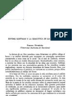 analisis Goffman relaciones en público