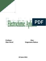 Electrochimia. Aplicatii