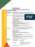 Sica 3 (Acelerante Sin Cloruro)