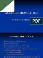 ANEMIILE HEMOLITICE
